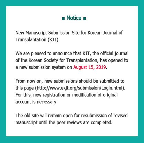 Korean Journal of Transplantation
